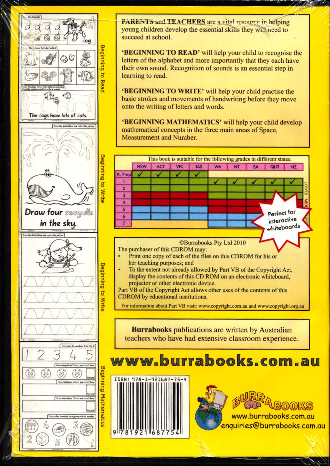 Beginning to Read, Write and Mathematics - Book on CD