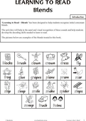 Learning to Read – Blends