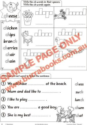 Learning to Read – Digraphs