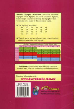 Phonics Digraphs – Workbook