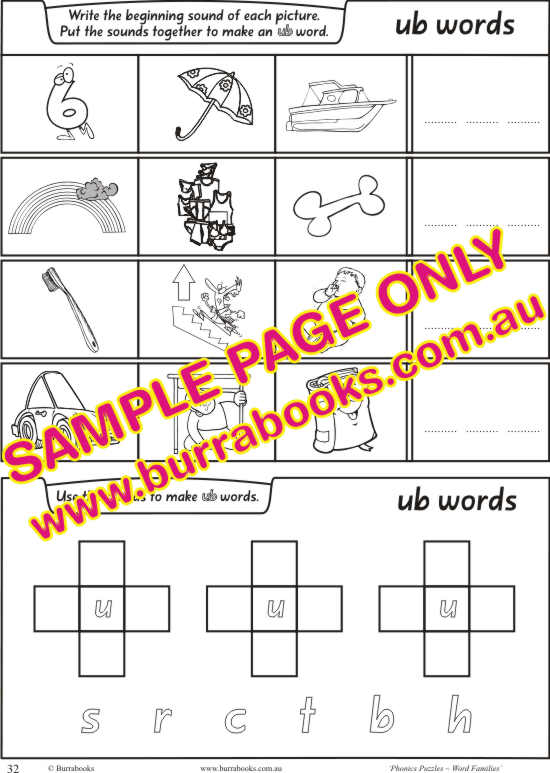 Phonics Puzzles – Word Families