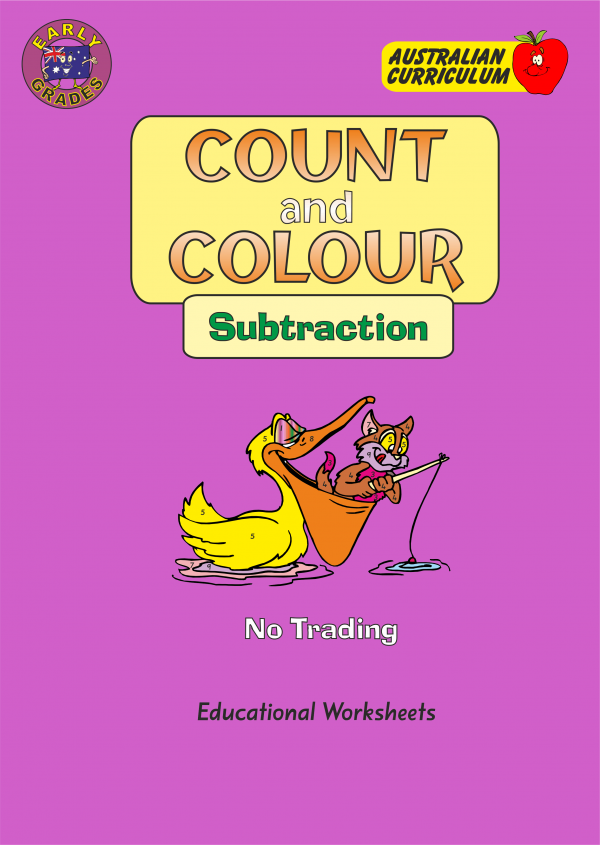 Count and Colour - Subtraction-0