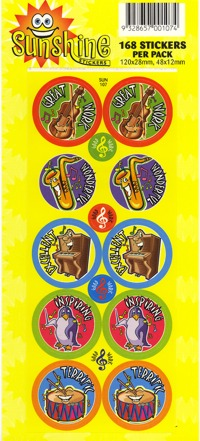 Sunshine Stickers - 168 per pack-0