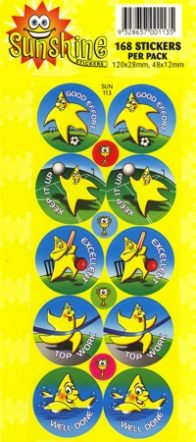 Sunshine Stickers 168 per pack-0