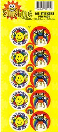 Sunshine Stickers 168 per pack-0