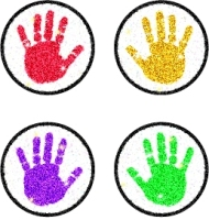 Handprints Dazzle Chart Seals-0