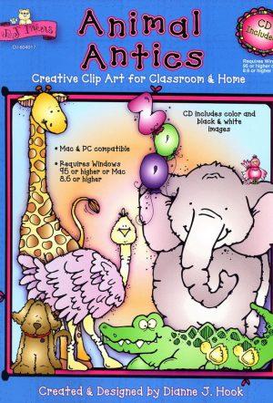 Animal Antics Clip Art Book - Plus CD - Clearance-0