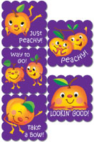 Cartoon Fruit Peach Scratch n Sniff Stickers - 100 per pack-0
