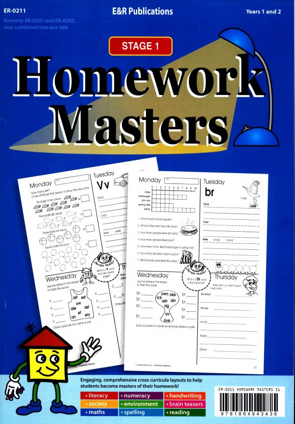 Homework Masters-Stage 1 Years 1 / 2-0