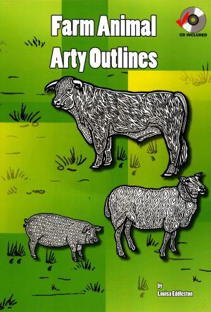 Farm Animal Arty Outlines-0