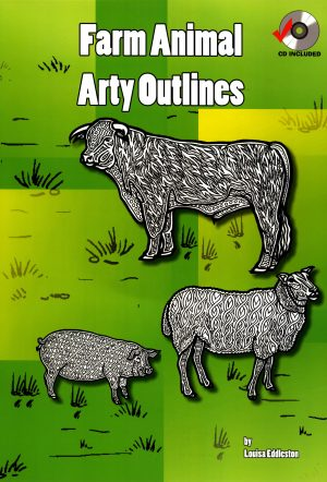 Farm Animal Arty Outlines-0