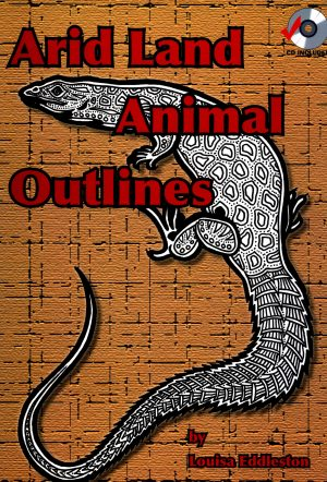 Arid Land Animal Outlines Book and CD-0