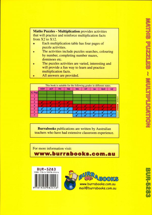 Maths Puzzles - Multiplication-41894