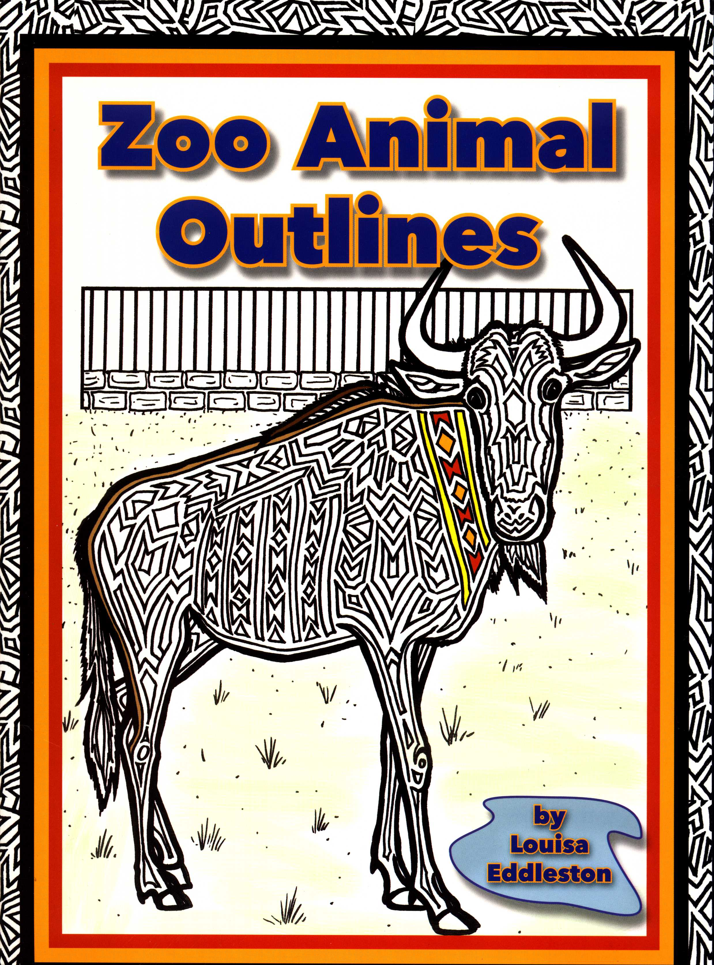 Zoo Animal Outlines-0