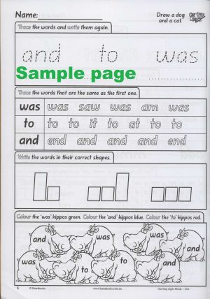 Starting Sight Words- Book One-41879