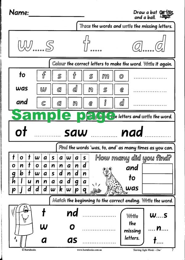 Starting Sight Words- Book One-41874