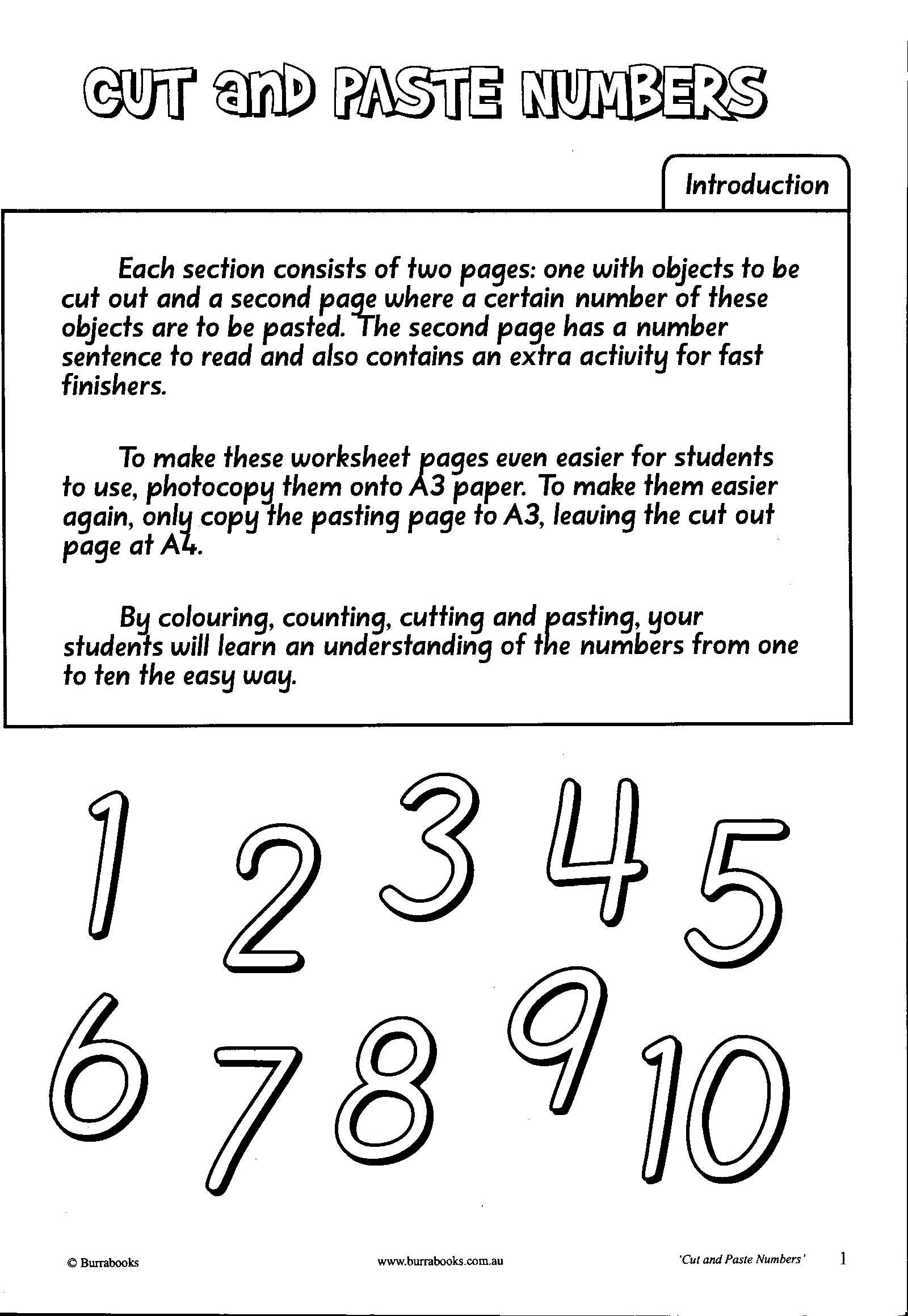 Cut and Paste Numbers-41978