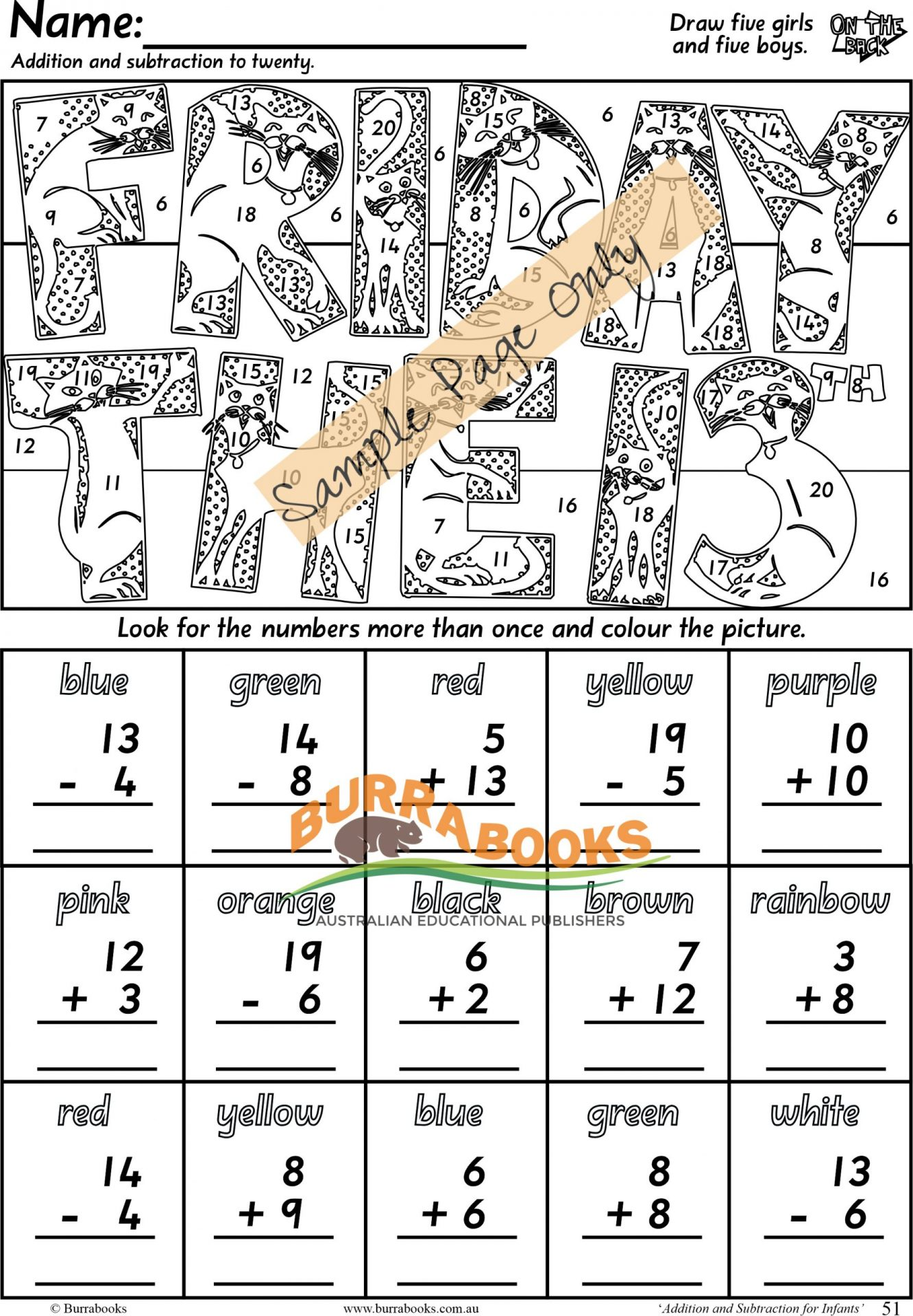 Addition & Subtraction for Infants