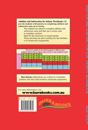 Addition and Subtraction for Infants - Workbook Hard Copy