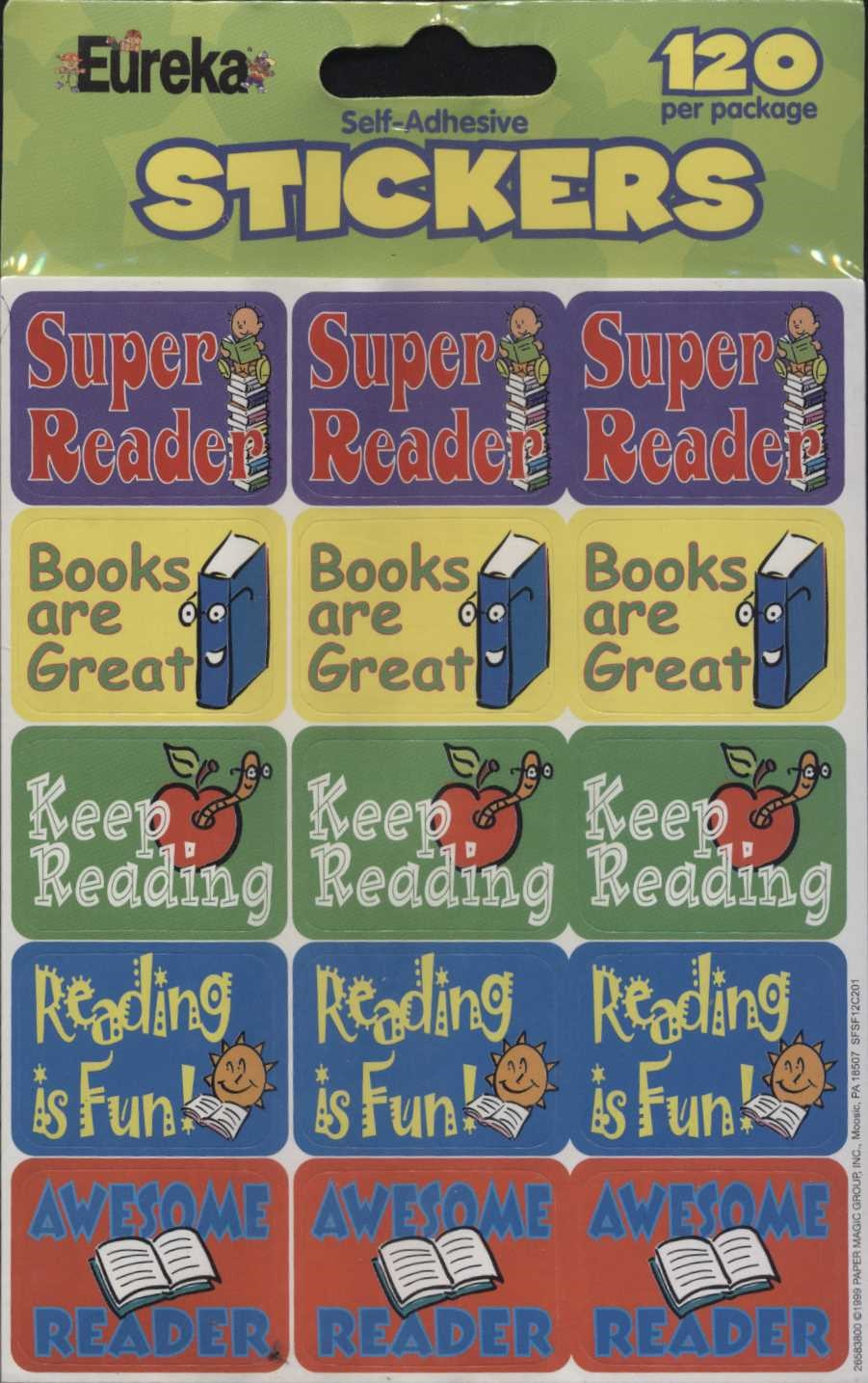 Reading Stickers 120