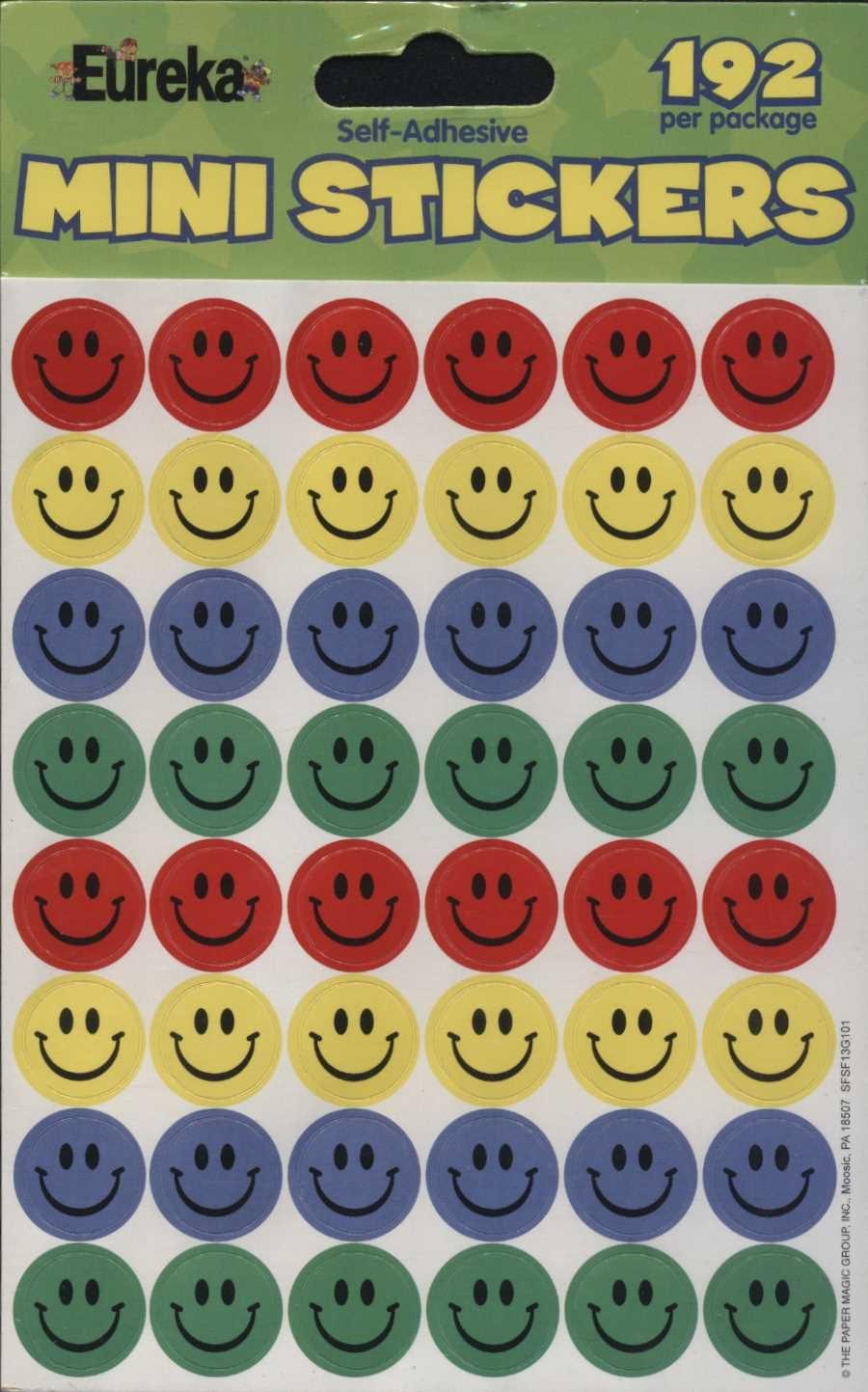 Mini Smiley Faces Stickers 192
